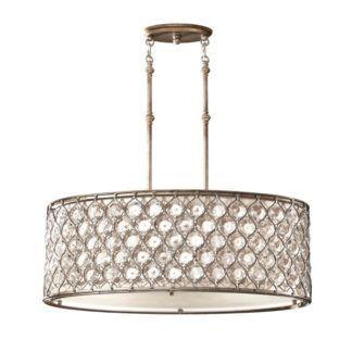 Lampa wisząca Bella - duży klosz z kryształkami