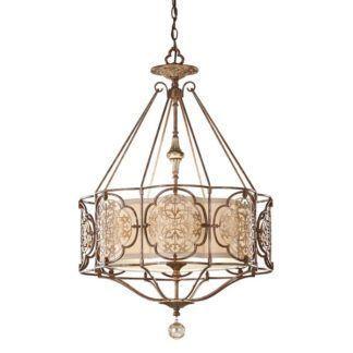 Lampa wisząca Marcella - brąz, złoto