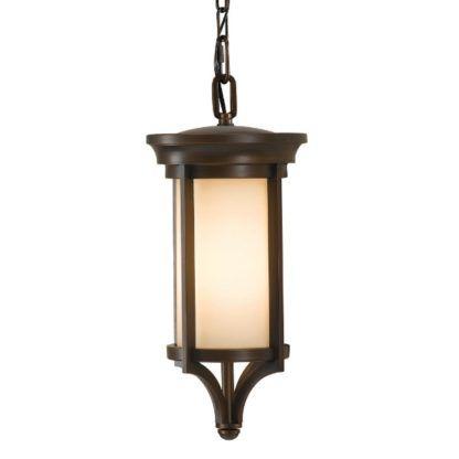 brązowa klasyczna lampa wisząca szkło