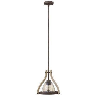 rustykalna lampa wisząca