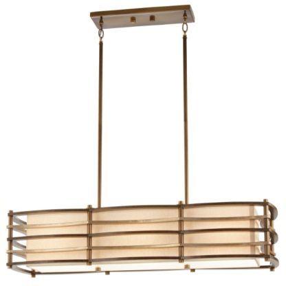 podłużna lampa nad stół, z abażurem
