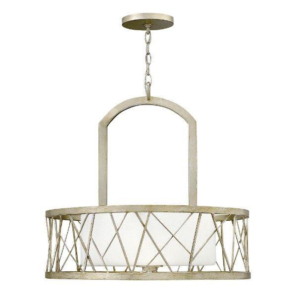 lampa wisząca klasyczna szklany klosz, złota rama