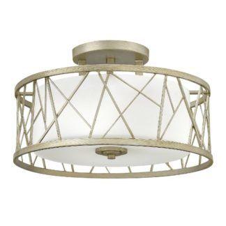 Nowoczesna lampa sufitowa Nest - szklany klosz w geometrycznej oprawie