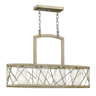 Podłużna lampa wisząca Nest - 4 szklane klosze