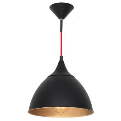 czarna lampa wisząca metalowa vintage