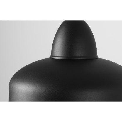 metalowa czarna lampa wisząca
