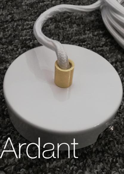 lampa wisząca biała podsufitka