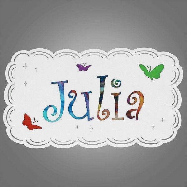 dziecięcy kinkiet z imieniem JULIA
