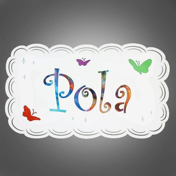 dziecięcy kinkiet z imieniem POLA
