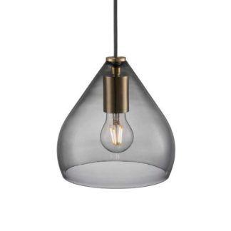 Szara lampa wisząca Sence 21 - Nordlux - DFTP - szklany klosz, nowoczesna