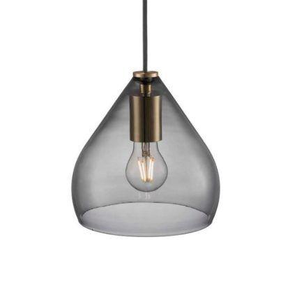 nowoczesna lampa wisząca dymione szkło