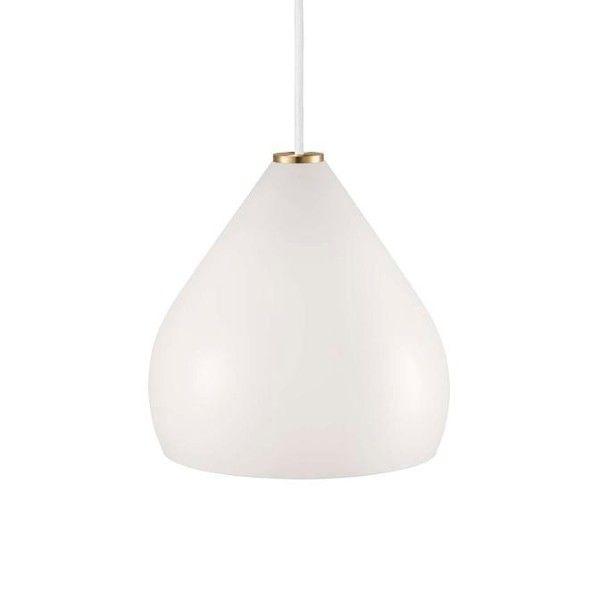 biała lampa wisząca mleczne szkło