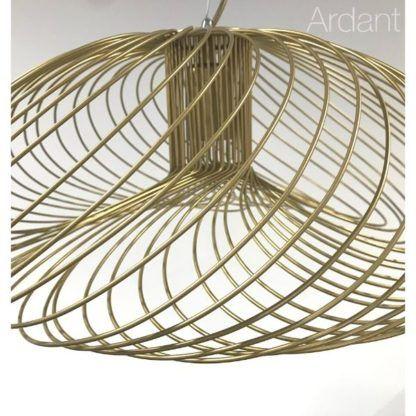 złota druciana lampa wisząca