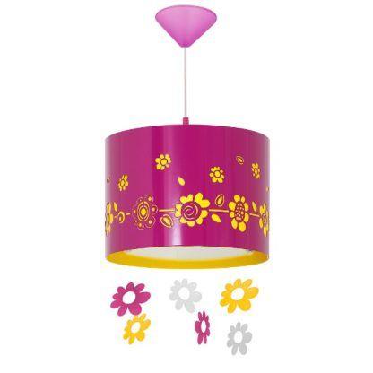 różowa dziecięca lampa wisząca