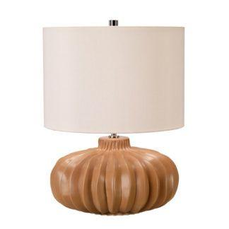 Ceramiczna lampa stołowa Woodside - abażur ivory