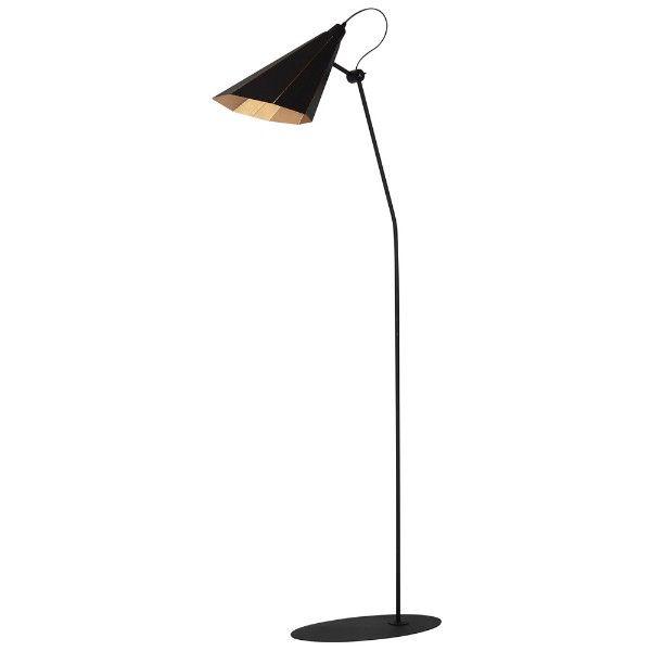 czarna metalowa lampa podłogowa vintage