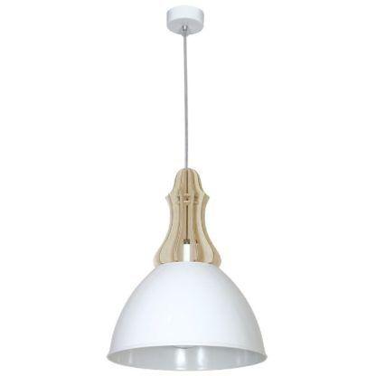 biała lampa wisząca skandynawska
