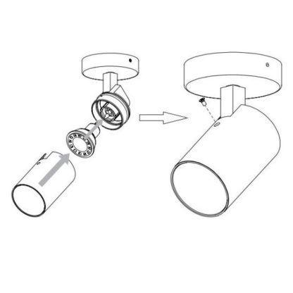 Nowoczesna lampa sufitowa - kinkiet Aqua Single - Astro Lighting - biały mat