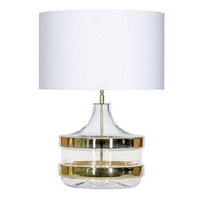luksusowa lampa stołowa z abażurem, złoto