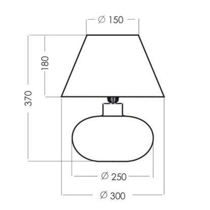 szklana lampa stołowa