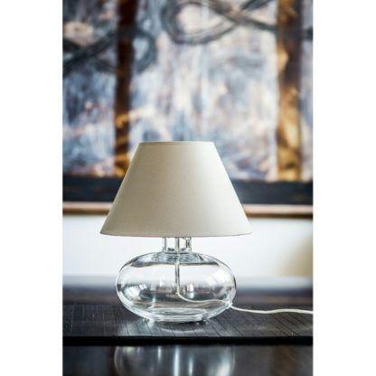 niska lampa stołowa szklana