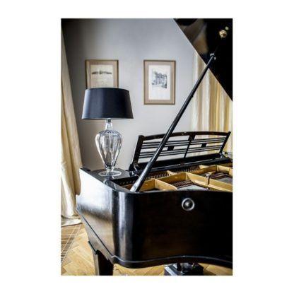 Lampa stołowa Bristol - miedź, czarny abażur
