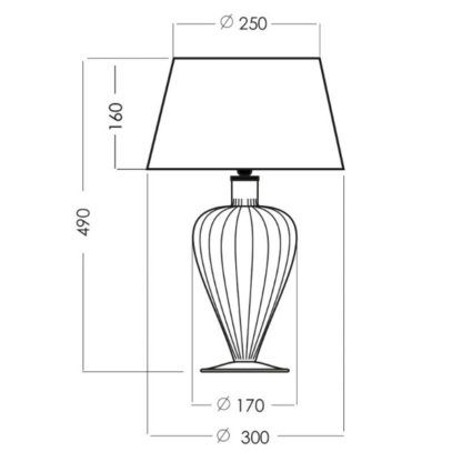 Elegancka lampa stołowa Bristol - miedziane szkło, czarny abażur