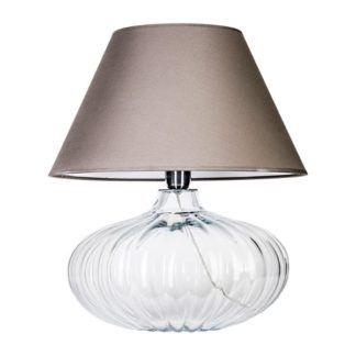Szklana lampa stołowa Brno - kulista podstawa