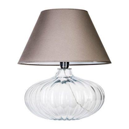 okrągła lampa stołowa ze szkła
