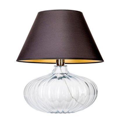 szklana lampa stołowa elegancka