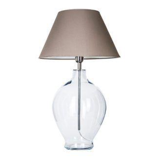 Szklana lampa stołowa Capri - bezbarwna podstawa