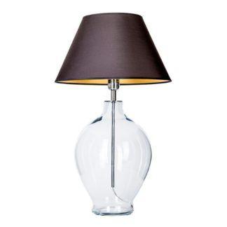 Szklana lampa stołowa Capri - czarny abażur