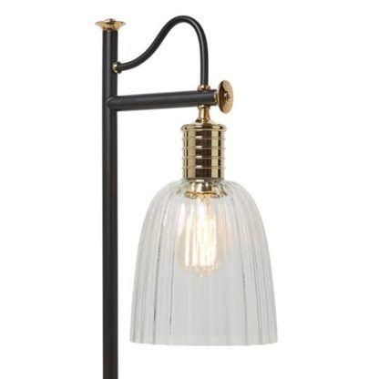 lampa stołowa szklany klosz