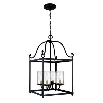 metalowa lampa wisząca klatka
