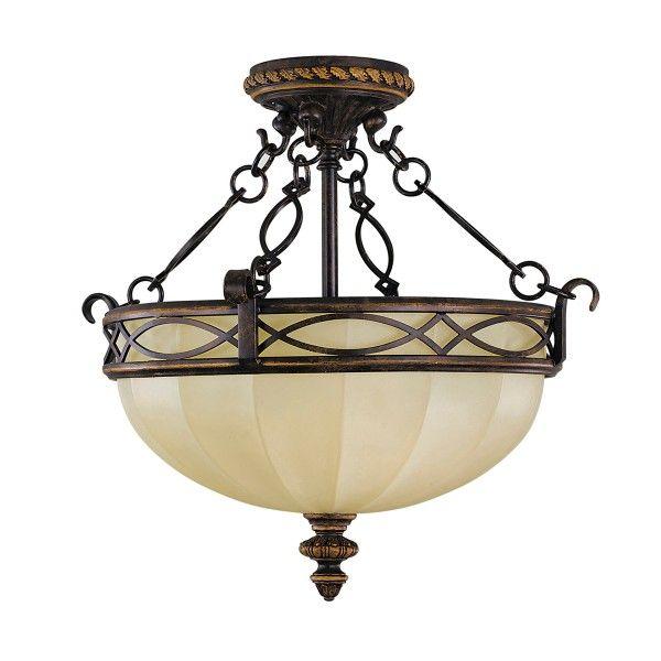 lampa sufitowa beż brąz szklana klasyczna