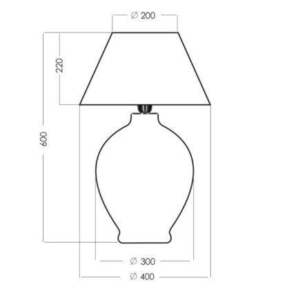 duża lampa stołowa szklana