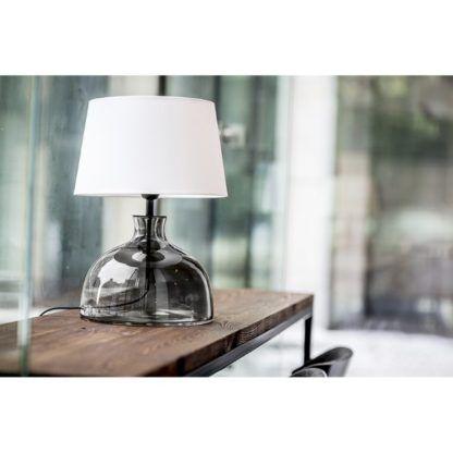 elegancka lampa stołowa z abażurem