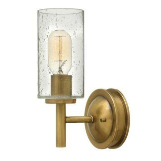 Złoty kinkiet Collier - szklany klosz, jednoramienny