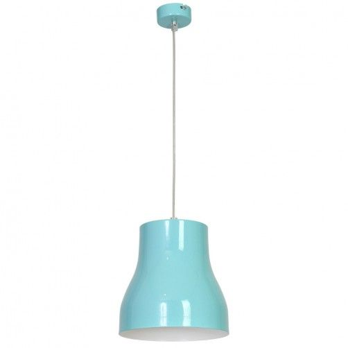 niebieska lampa wisząca