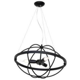 Designerska lampa wisząca Kopernik - czarny klosz z metalu