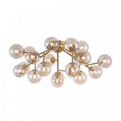 designerska lampa sufitowa szklane kule