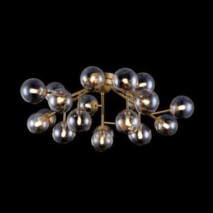 nowoczesna lampa wisząca bursztynowe szkło