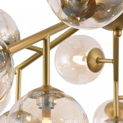 lampa sufitowa złoto i szkło