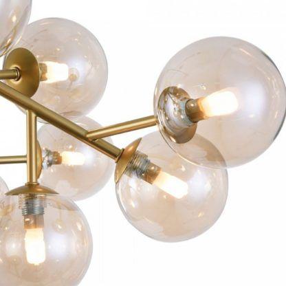 lampa sufitowa bursztynowe kule