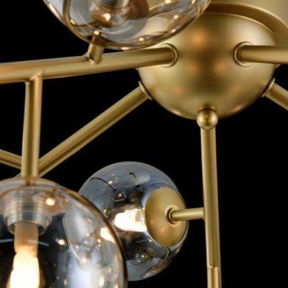lampa sufitowa satynowe złoto