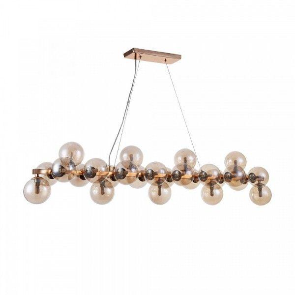 designerska lampa wisząca z małymi szklanymi kloszami
