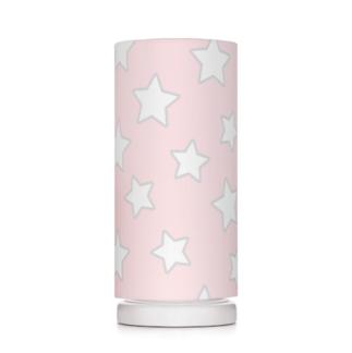Lampka nocna Pink Stars - różowa w białe gwiazdki