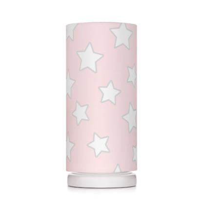 różowa lampka nocna w gwiazdki