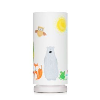 Lampka nocna Przyjaciele Lasu - biała tuba w kolorowe zwierzątka