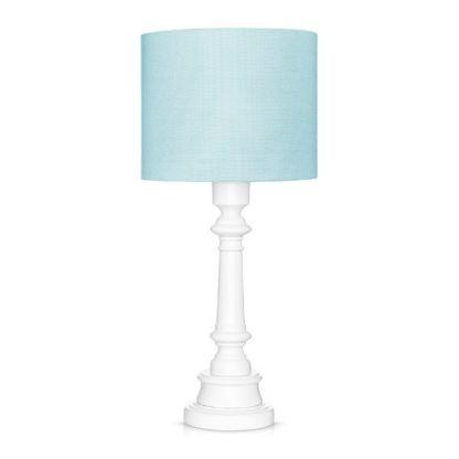 błękitna lampa stołowa
